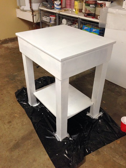 Painting a Side Table for the Living Room