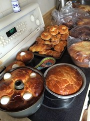Portuguese traditional sweet bread. An Easter tradition at home.