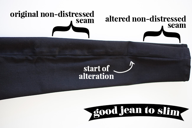 How to slim ankle jeans - example of a good jean to slim