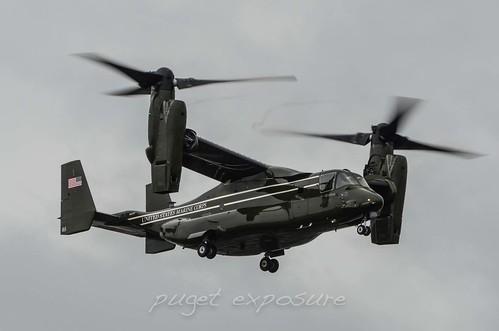 HMX-1 MV-22B landing configuration