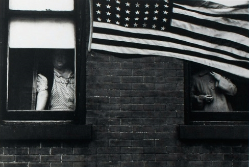 'Parade – Hoboken, New Jersey', from Robert Frank's The Americans, all photographed 1955–56. (crop for article)