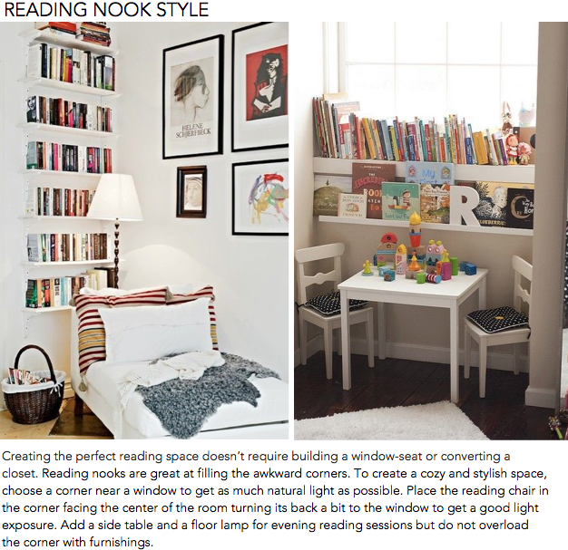 Reading Nook Style