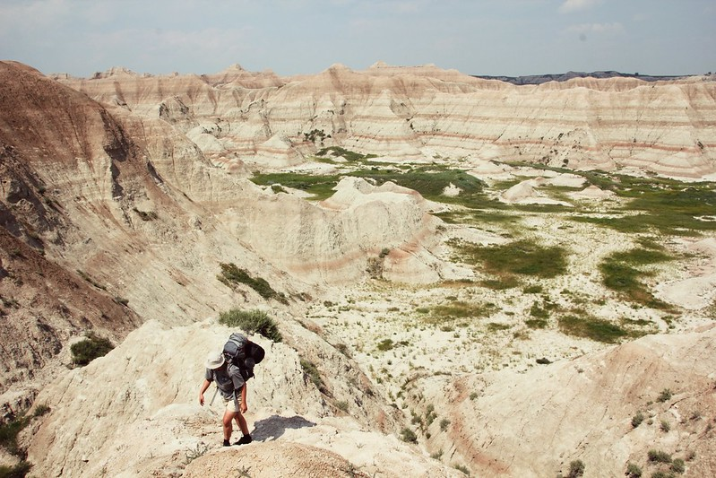 Backpacking at Badlands National Park