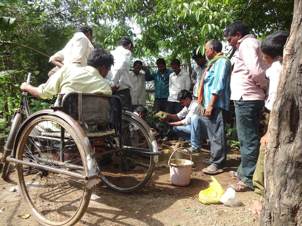 Farmers, including those with disabilities, attending a training on organic farming.