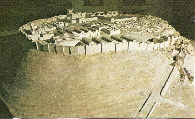 Model of the city of Megiddo in 1457 BC