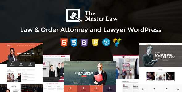 Master Law WordPress Theme free download