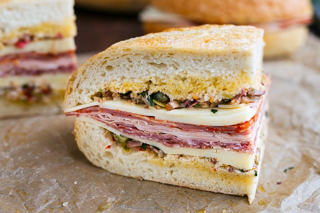 muffuletta sandwich wedge