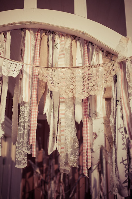 Vintage Tassle and Doily Bunting Porch