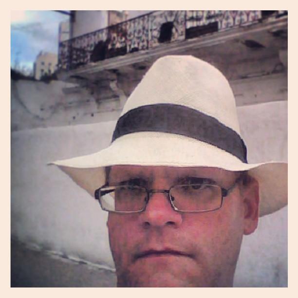 Leaving the medina in my Panama Hat