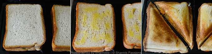Veg Bread Sandwich Recipe - Step2