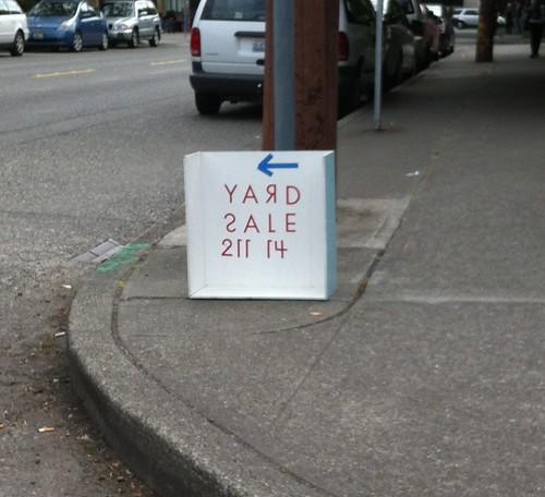 Strange sale sign