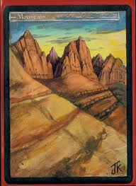 Mountain Magic Card Altered Art Magic the Gathering Art