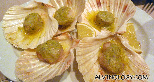 Garlic scallop