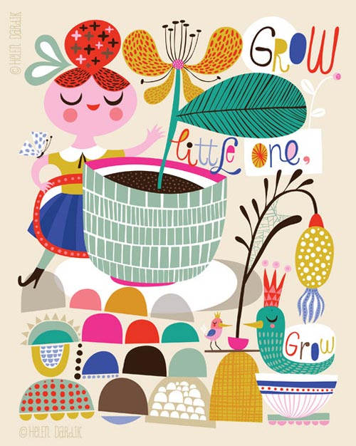 Helen Dardik Illustrations - Growing