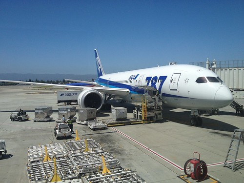787 at San Jose Airport