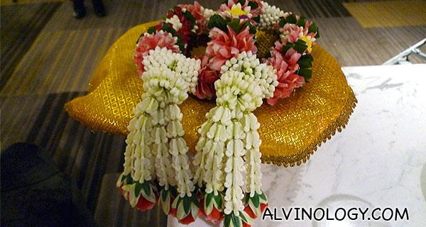 Flower garlands for Rachel and I