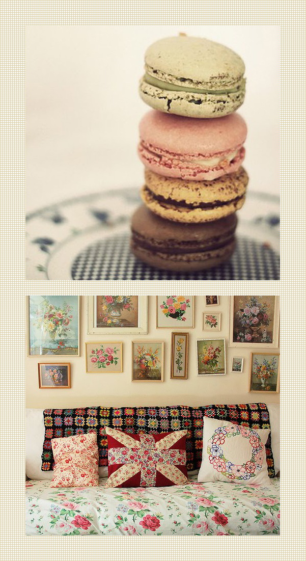 today I'm loving : macaroons and roses - curated by Emma Lamb