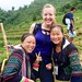 Molly and our Hmong Guides Chai and Mai