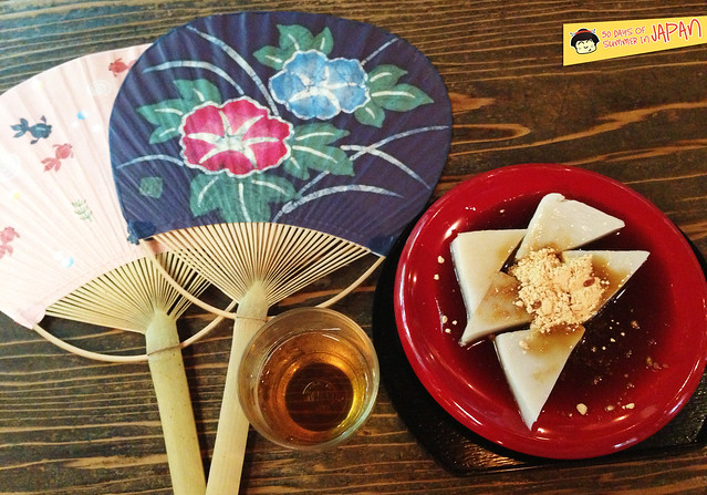 Wagashi - Tea Shop at Kanda Shrine - sweets and tea