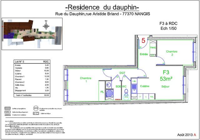 Résidence du Dauphin - Plan de vente - Lot n°5