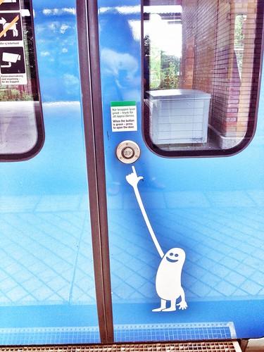 commuter train stickers