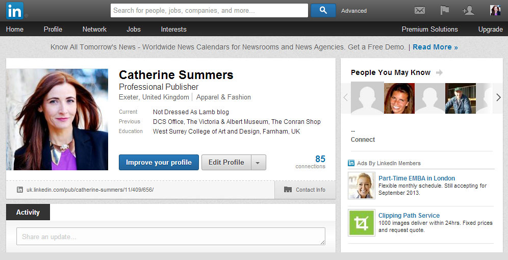 LinkedIn screengrab