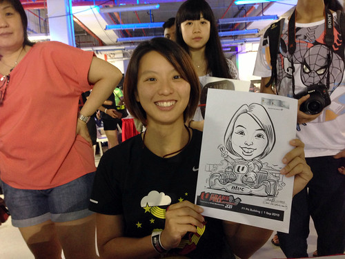 caricature live sketching for NTUC U Grand Prix Experience 2013 - 48