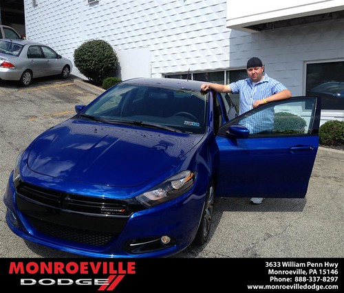 Thank you to Jason Deer on the 2013 Dodge Dart from Lara Paradise and everyone at Monroeville Dodge! by Monroeville Dodge