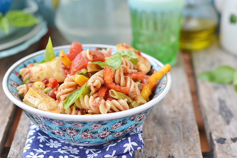pasta and vegetables salad