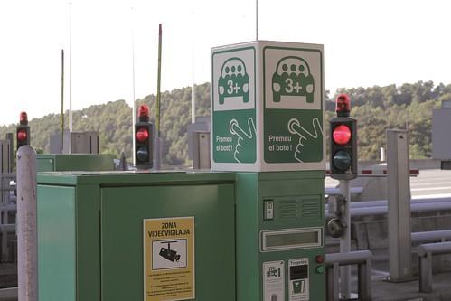 Peaje selectivo para vehículos de alta ocupación (peaje VAO 3+ Túneles de Vallvidrera, Barcelona