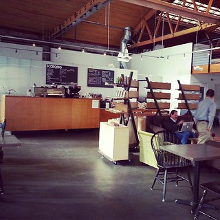 Awesome #coffice space at Kakao but, alas, I have to get back to my real desktop. #Seattle #coffee