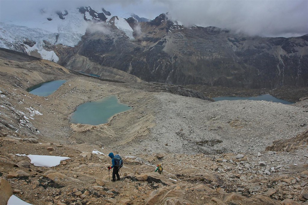 Walk out via the beautiful Cojup valley. Huascaran National Park. Cordillera Blanca. Peru.