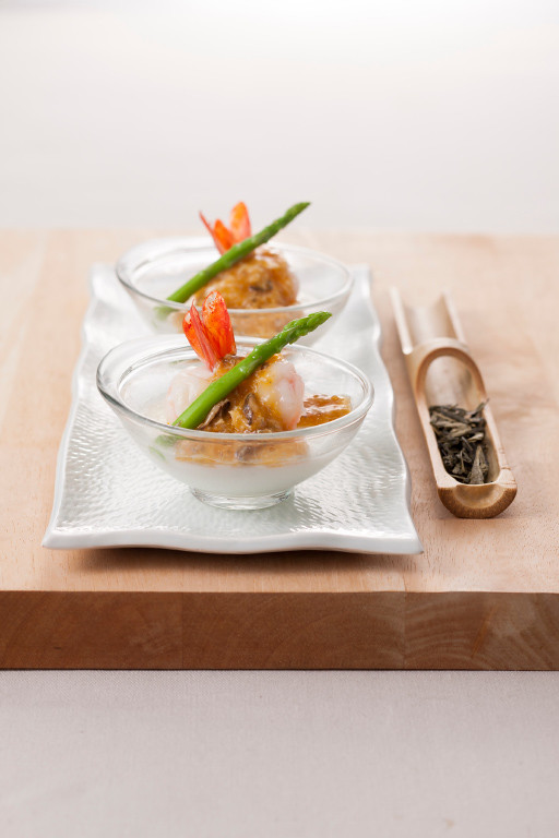 steamed shrimp fresh hairy crab cream  egg white custard.jpg