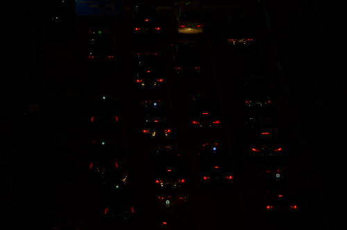 car lights in Tokyo