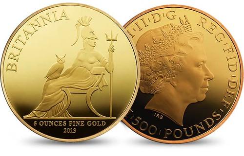 British gold 5 ounces