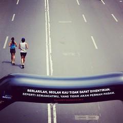 Keep running! #jakarta #marathon#2013 #bunderanHI