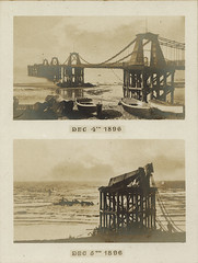 Chain Pier, Brighton, before and after storm