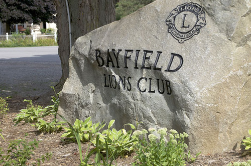 Lions contribute to The Square, Bayfield