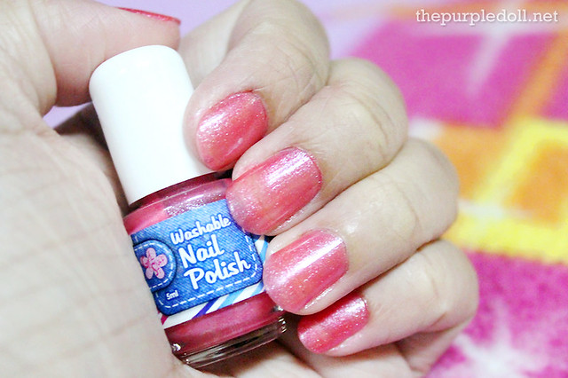 Washable Nail Polish Fuchsia