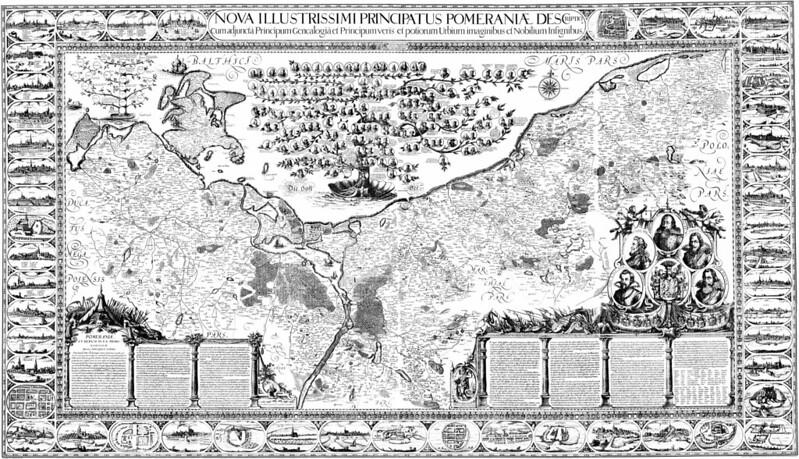 Eilhard Lubinus - Duchy of Pomerania Map (c.1618)