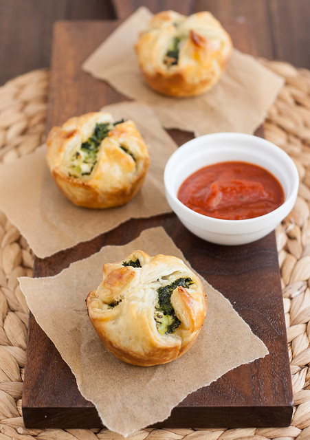 Spinach and Feta Puff Pastry Bites