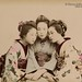 Kusakabe Kimbei, Three young maiko, ca. 1890.