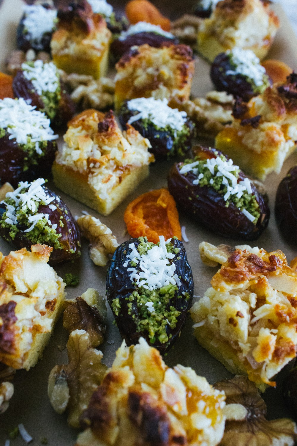 Pistachio-Stuffed Dates With Coconut Recipe — Dishmaps