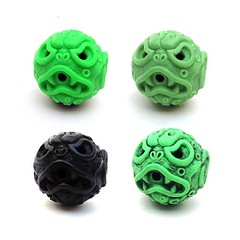 Black and Rubbed Oozeballs are still in stock at the Man-E-Toys store! Open run Neon and Vintage Green will be available for the next couple of weeks...