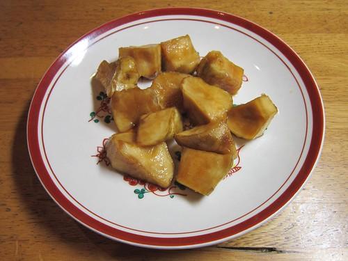 1週間醤油とみりんで漬けたキクイモ 2013年12月2日 by Poran111