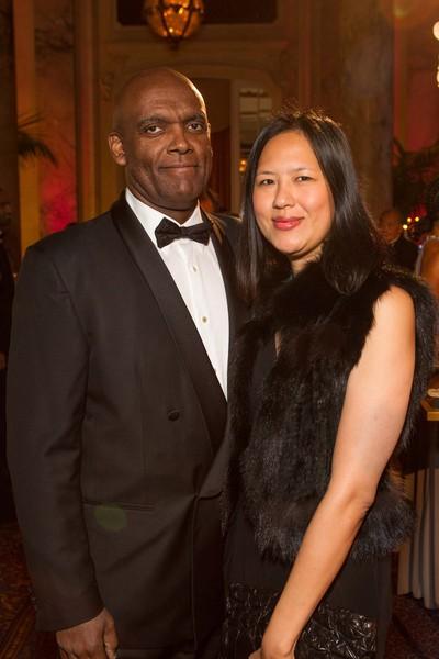 Dr. Clem Jones and Yvonne Liu