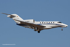 D-BOOC - 2006 build Cessna 750 Citation X, on approach to Runway 24L at Palma