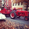 Tractor parade today downtown Frederick.  A lot of vintage John Deere's