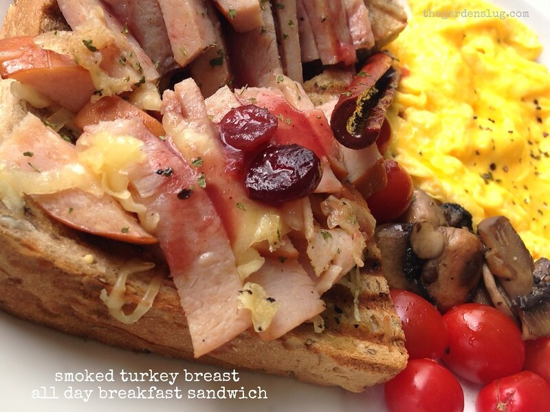 smoked turkey breast breakfast sandwich