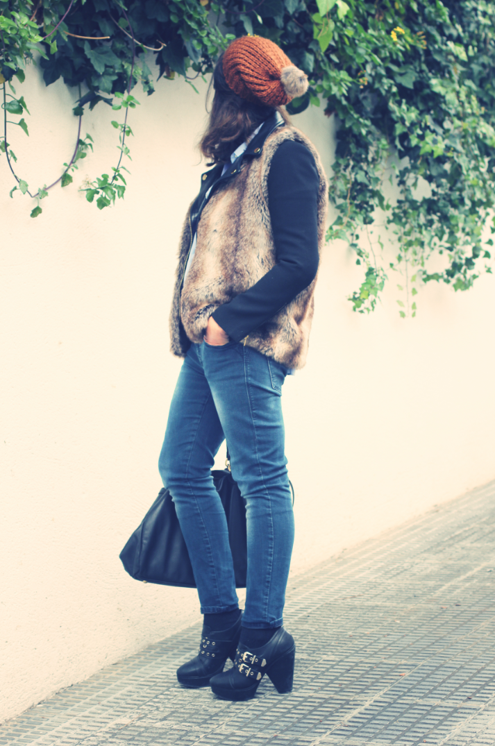 Look Faux Fur + Biker Jacket